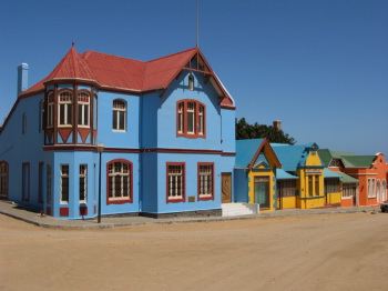 colourful town Namibia